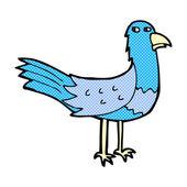 Comic cartoon bird — Stock Vector