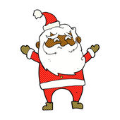 Comic cartoon happy santa claus — Stock Vector