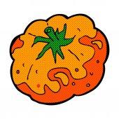 Comic cartoon tomato — Stock Vector