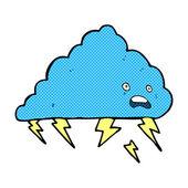 Comic cartoon thundercloud — Stock Vector