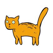 Comic cartoon frightened cat — Stock Vector