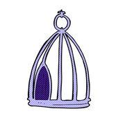 Comic cartoon bird cage — Stock Vector