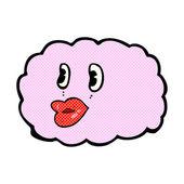 Comic cartoon cloud symbol — Stock Vector