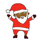 Comic cartoon santa claus — Stock Vector