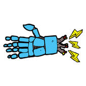 Comic cartoon robot hand — Stock Vector