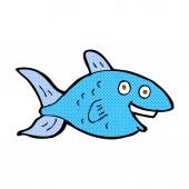 Comic cartoon fish — Stock Vector