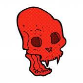 Comic cartoon spooky vampire skull — Stock Vector