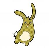 Funny comic cartoon rabbit — Stock Vector