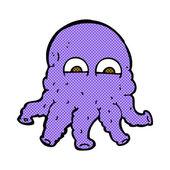 Comic cartoon alien squid face — Stock Vector