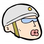 komiksově kreslenou policista hlava — Stock vektor #74317809