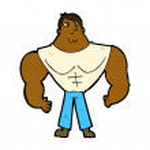 Comic cartoon body builder — Stock Vector #74319235