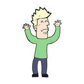 Homem de stresssed em quadrinhos de desenhos animados — Vetor de Stock