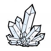 Комикс мультфильм кристаллы — Cтоковый вектор