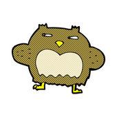 Comic cartoon suspicious owl — Stock Vector