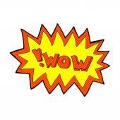 Comic cartoon wow explosion — Stock vektor
