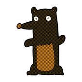 Comic cartoon black bear — Stock Vector