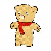 Comic cartoon teddy bear — Stock Vector