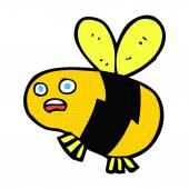 Comic cartoon bee — Stock Vector