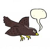 Cartoon bird with speech bubble — Stock Vector