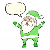 Cartoon santa claus with speech bubble — Stock Vector