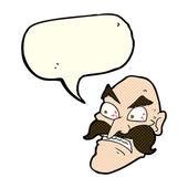 Hombre enojado con burbujas de discurso de la historieta — Vector de stock