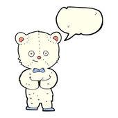 Cartoon cute little bear with speech bubble — Stock Vector