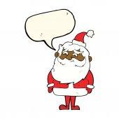Noel Baba konuşma balonu ile çizgi film — Stok Vektör