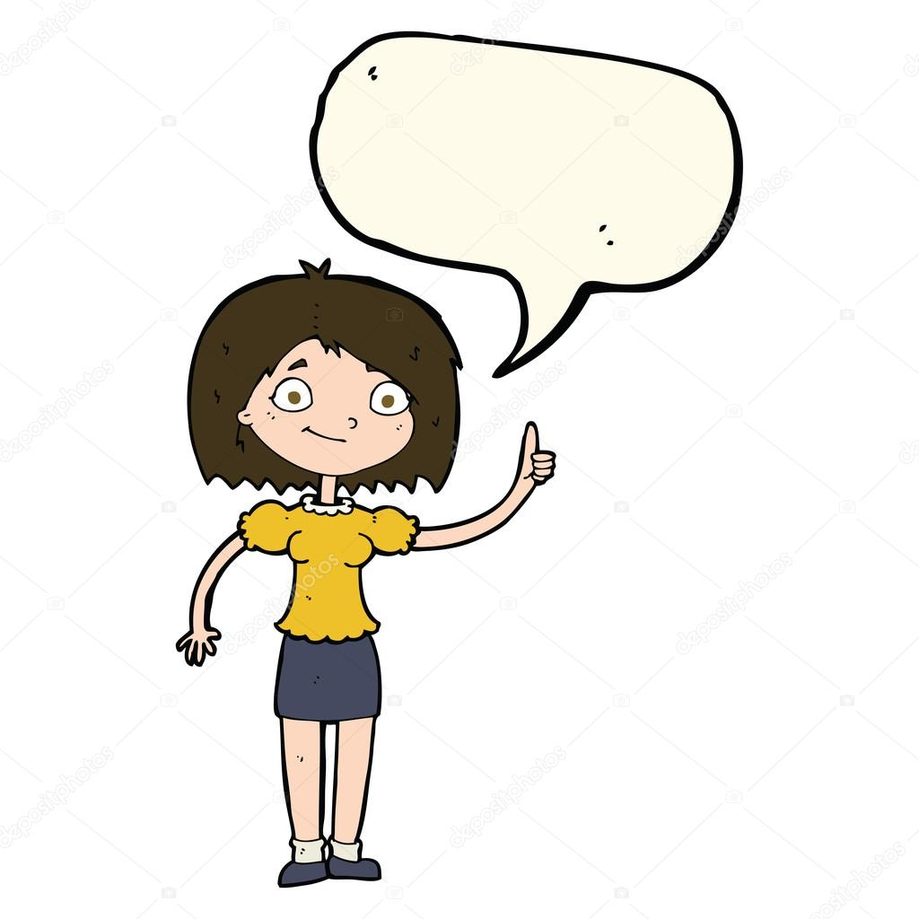 卡通女人讲话泡泡的想法