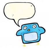 Cartoon bird with speech bubble — Vector de stock