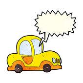 Tecknade bil med pratbubblan — Stockvektor