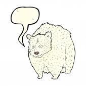 Großer eisbär cartoon mit sprechblase — Stockvektor