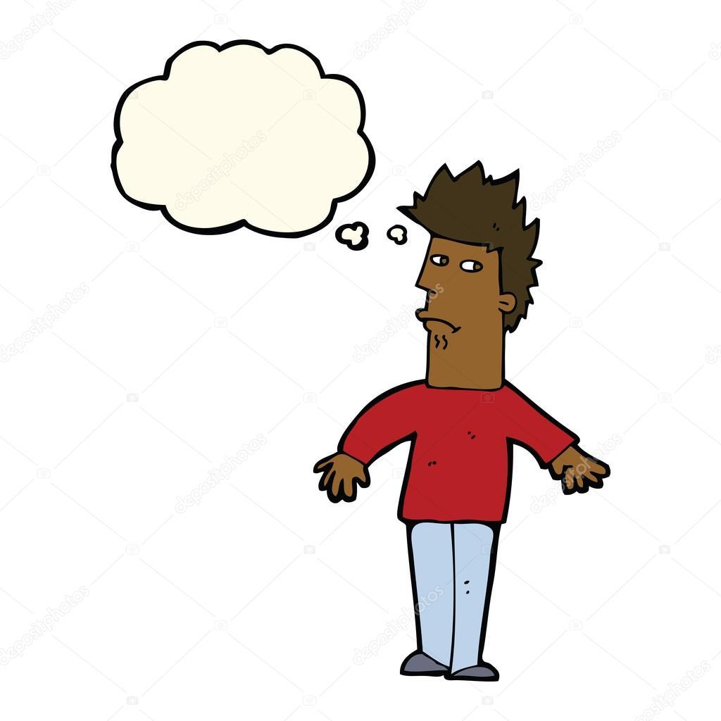 动漫与思想泡泡, 焦虑的人 — 图库矢量图片#77184745