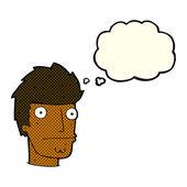 漫画と思ったのバブルの神経質男 — ストックベクタ