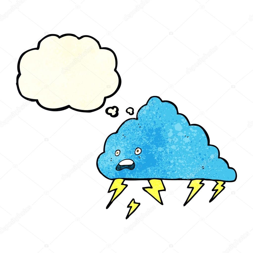 卡通雷云与思想泡泡 — 图库矢量图片#82375762