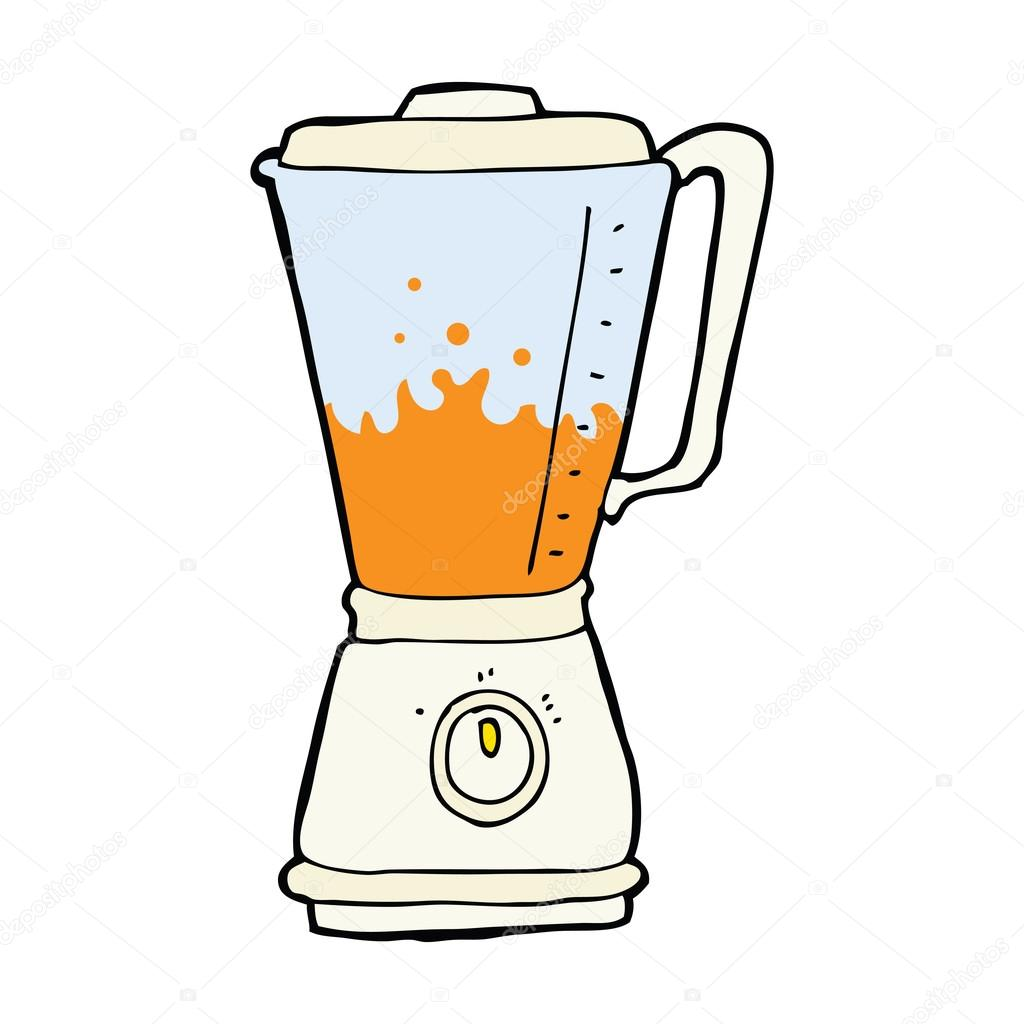 Stock Illustration Cartoon Juice Blender on cartoon smoothie