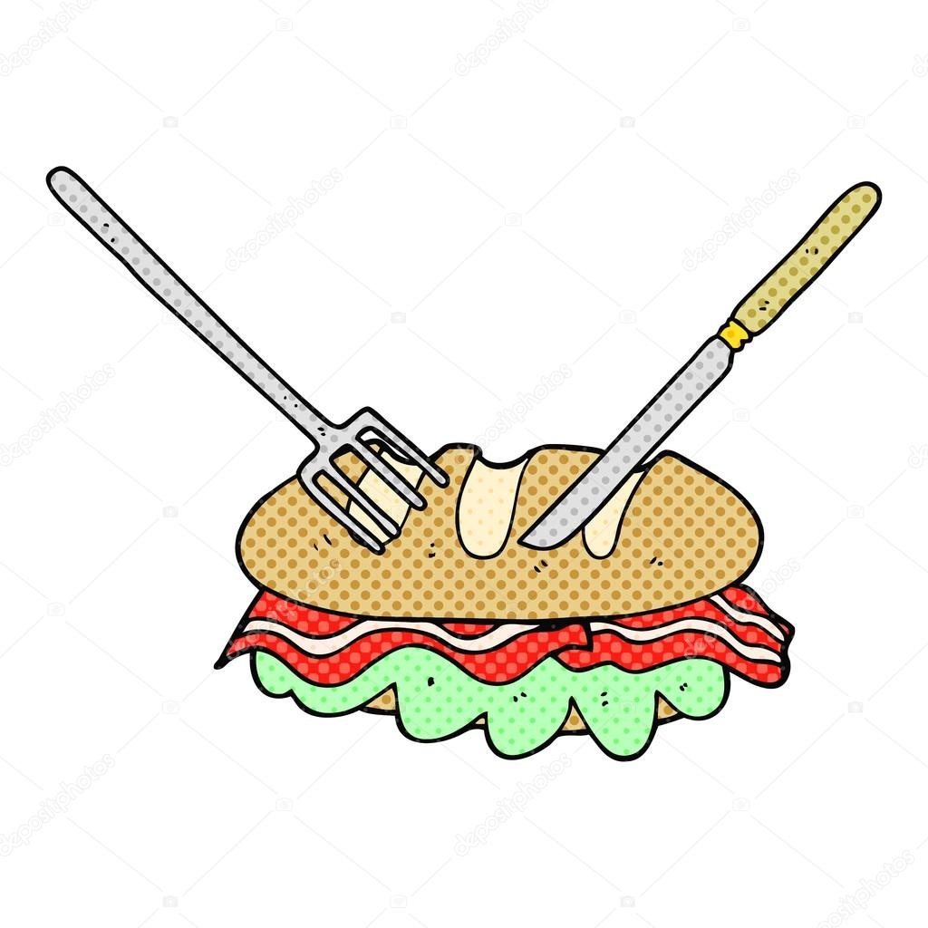 how to eat sandwich with fork and knife video