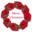 Christmas wreath from poinsettia — Stock Photo #58954719