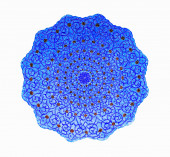 An image of a nice blue pottery plate  — Stock fotografie