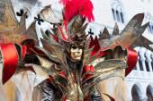 Beautiful Venetian masked Model — Stock Photo