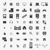 Computer icons set. illustration eps10 — Stock Vector
