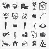 Zestaw ikon opieki nad zwierzętami. ilustracja eps10 — Wektor stockowy