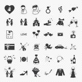 Wedding icons set. illustration eps10 — Vecteur