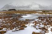 Waterfall, rapids in Icelandic landscape — Stock fotografie