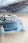 Glacier in water — Stockfoto