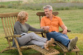 Happy retirement together — Stock Photo