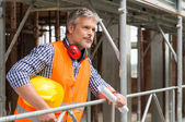 Smiling male construction worker — Stock Photo