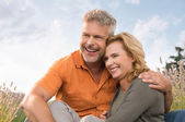 Happy Mature Couple Laughing — Stock Photo