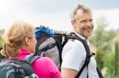 Mature Man Hiking With Wife — Stock Photo