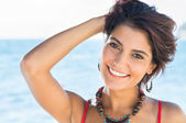 Smiling Woman In Summertime — Stock Photo