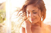 Smiling Girl In Relax — Stock Photo